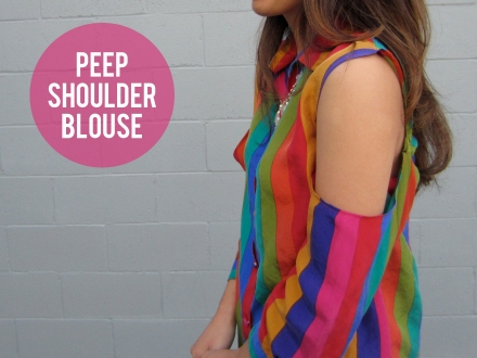 Peep Shoulder Blouse