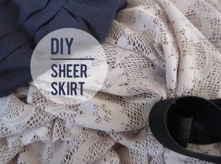 DIY sheer skirt