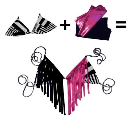 DIY fringe bikini top