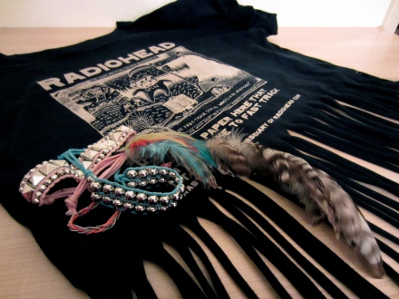 DIY fringe t-shirt