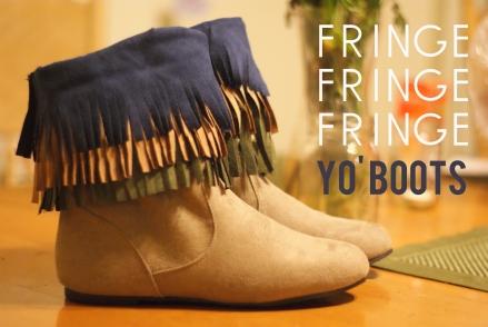 Fringe Your Boots DIY