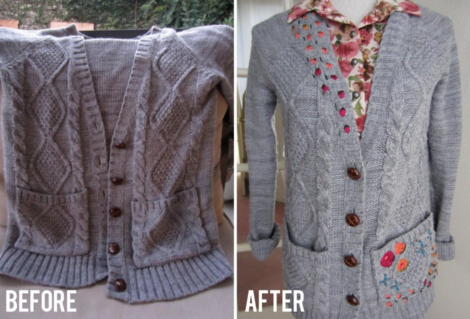 embroider your cardigan