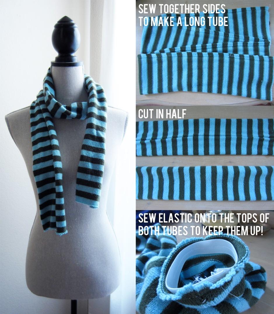 turn a scarf into socks