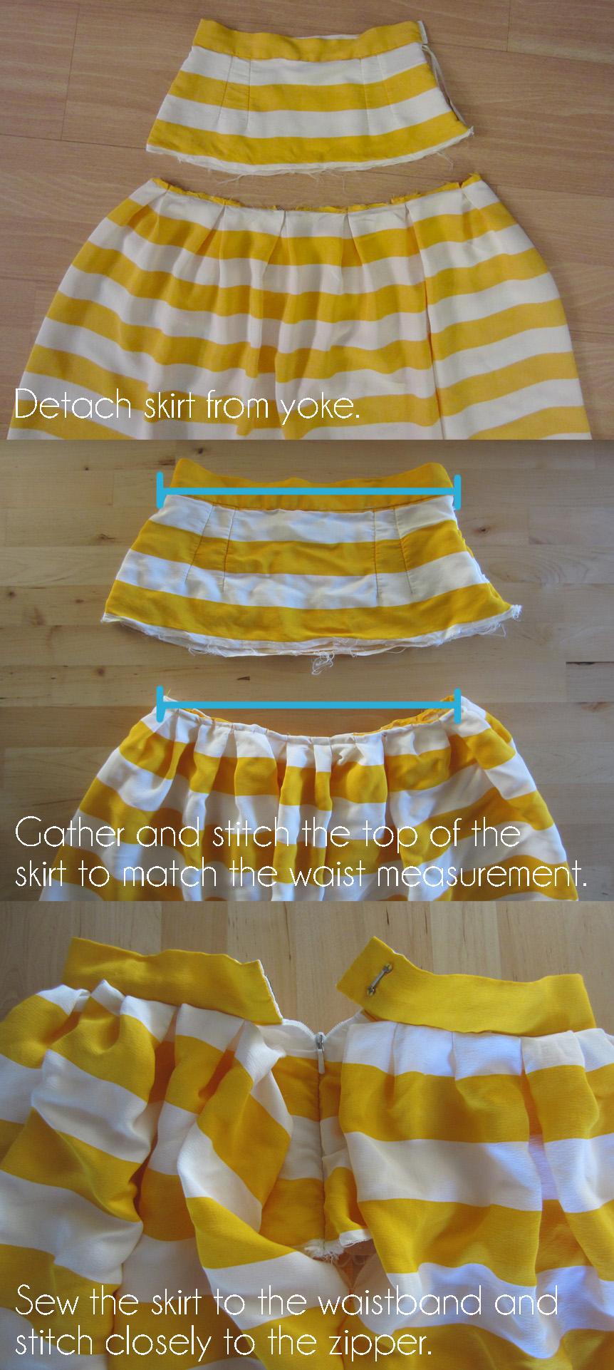 Alter a skirt