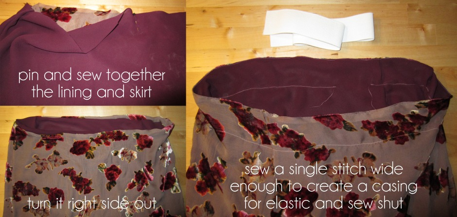 create a new elastic casing on a skirt