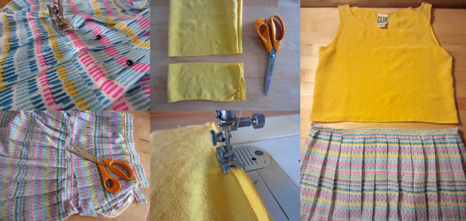 sew a top to a skirt