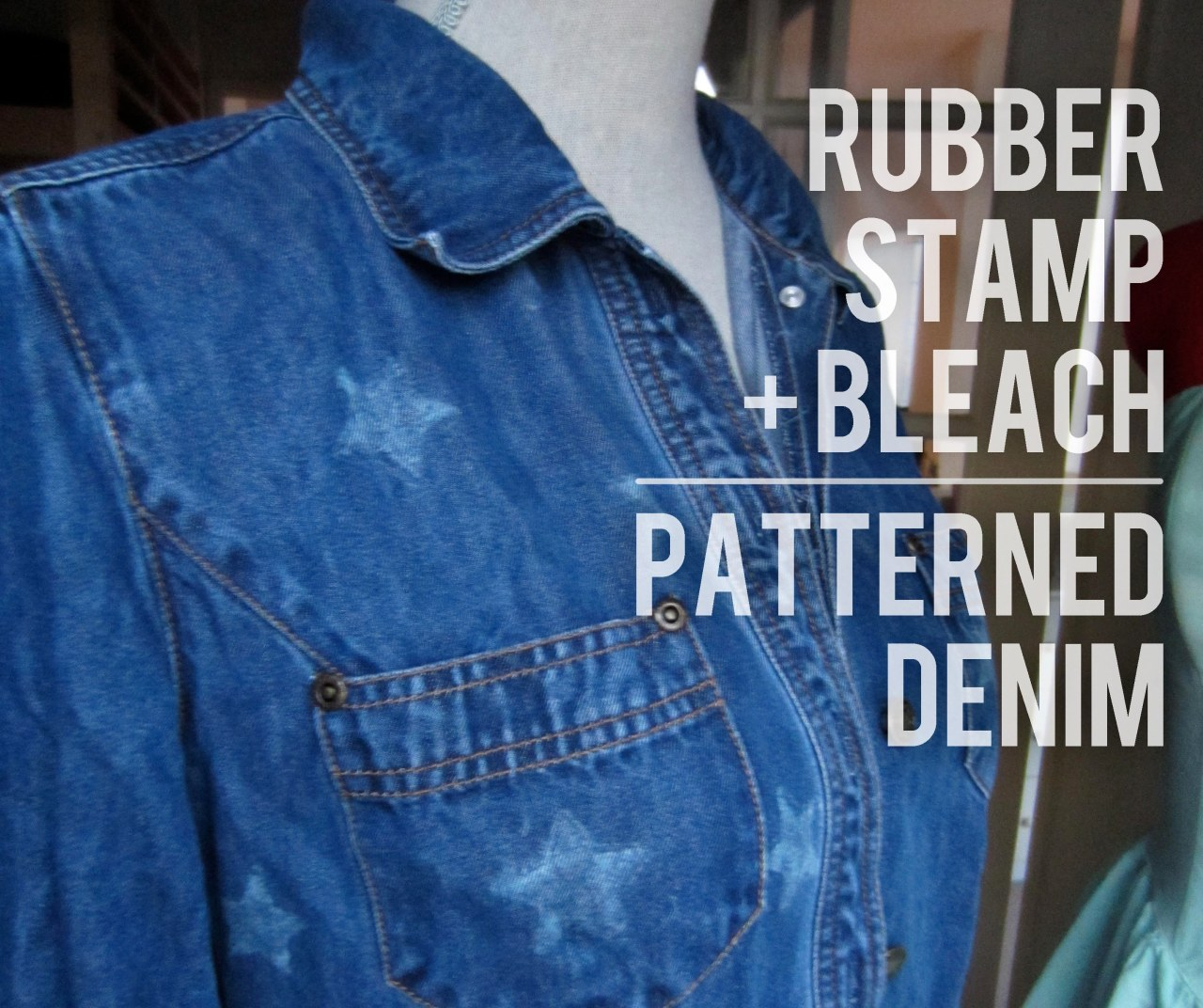 DIY PATTERNED DENIM