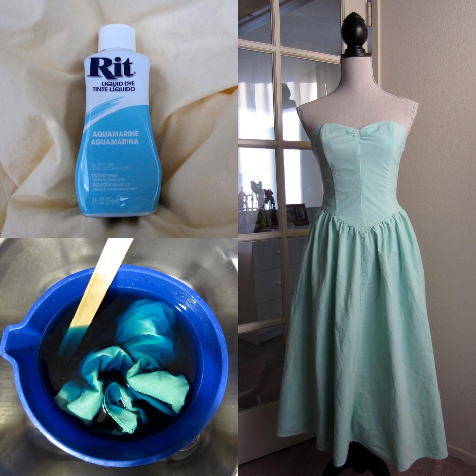 dye a dress turquoise teal