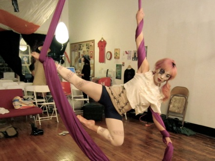 aerial silks mermaid pose