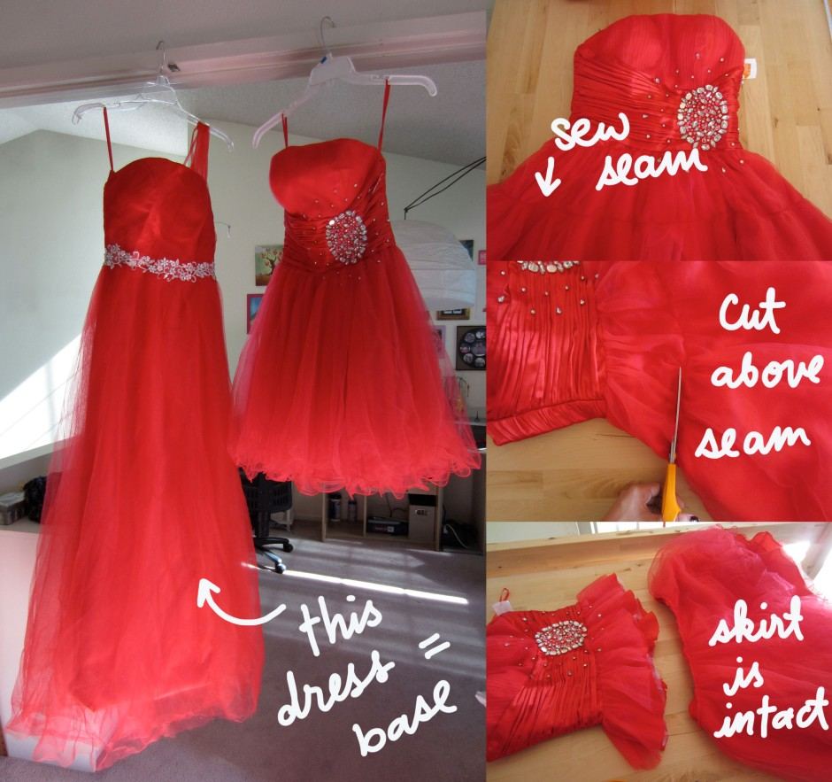 use prom dresses to make costume